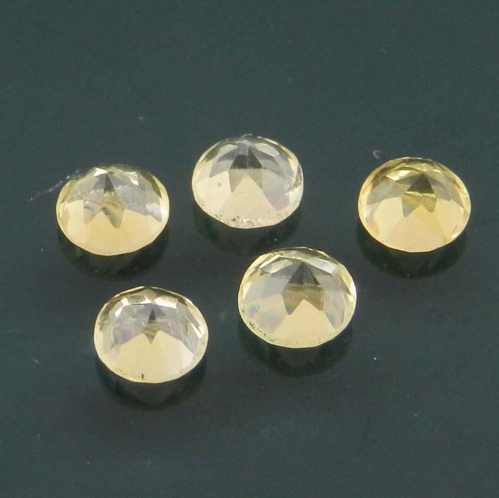 Golden Citrine 4mm Round Cut 0.24 Cts