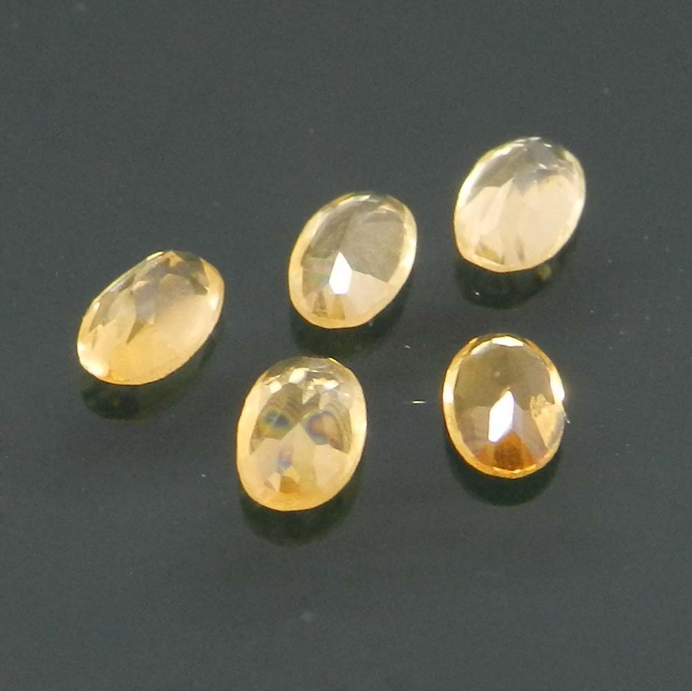 Golden Citrine 5x3mm Oval Cut 0.21 Cts