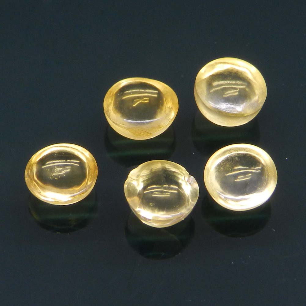 Golden Citrine 6mm Round Cabochon 0.75 Cts