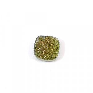 Golden Druzy 13mm Cushion 7.5 Cts Loose Gemstone