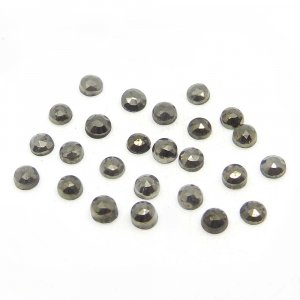Golden Pyrite 3mm Round Rose Cut 0.28 Cts
