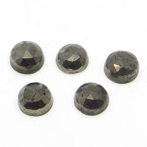 Golden Pyrite 4mm Round Rose Cut 0.51 Cts