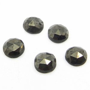 Golden Pyrite 6mm Round Rose Cut 1.74 Cts