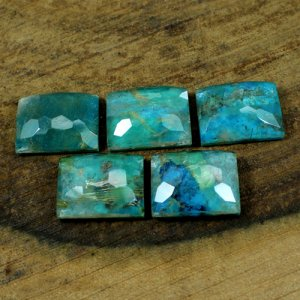 Golden Rutile + Turquoise Doublet 13x17 mm Rectangle Football 12.40 Cts