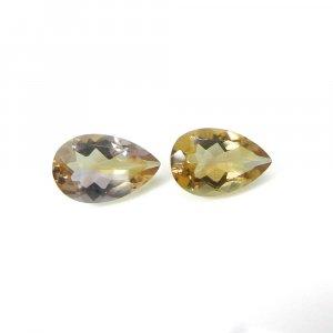 Gorgeous Gemstone Ametrine 14x9mm Pear Faceted Cut 7.80 Cts