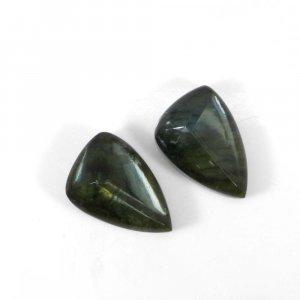 Green Amethyst + Labradorite 22x15mm Fancy Cut 21.75 Cts