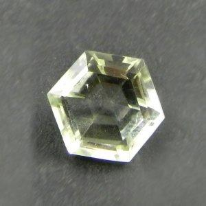 Green Amethyst 11x10mm Hexagon Cut 3.7 Cts