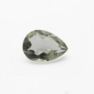 Green Amethyst 18x13mm Pear Checker Cut 10.45 Cts