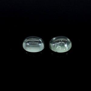 Green Amethyst Gemstone Oval Cabochon 12x10 mm 4.55 Cts