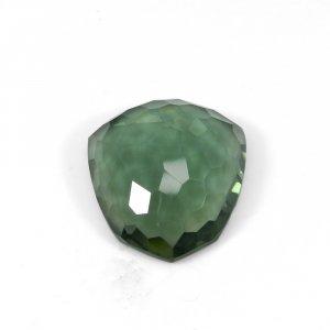 Green Amethyst Hydro 30x26mm Fancy Free Form Cut 62.60 Cts