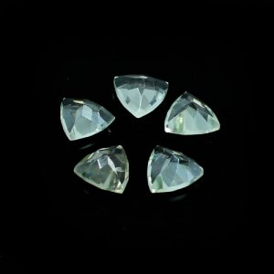 Green Amethyst Trillion Faceted 8mm 1.50 Cts