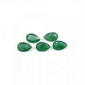 Green Aventurine 8x5mm Pear Cut 6 Pcs Lot 4.75 Cts Loose Gemstone