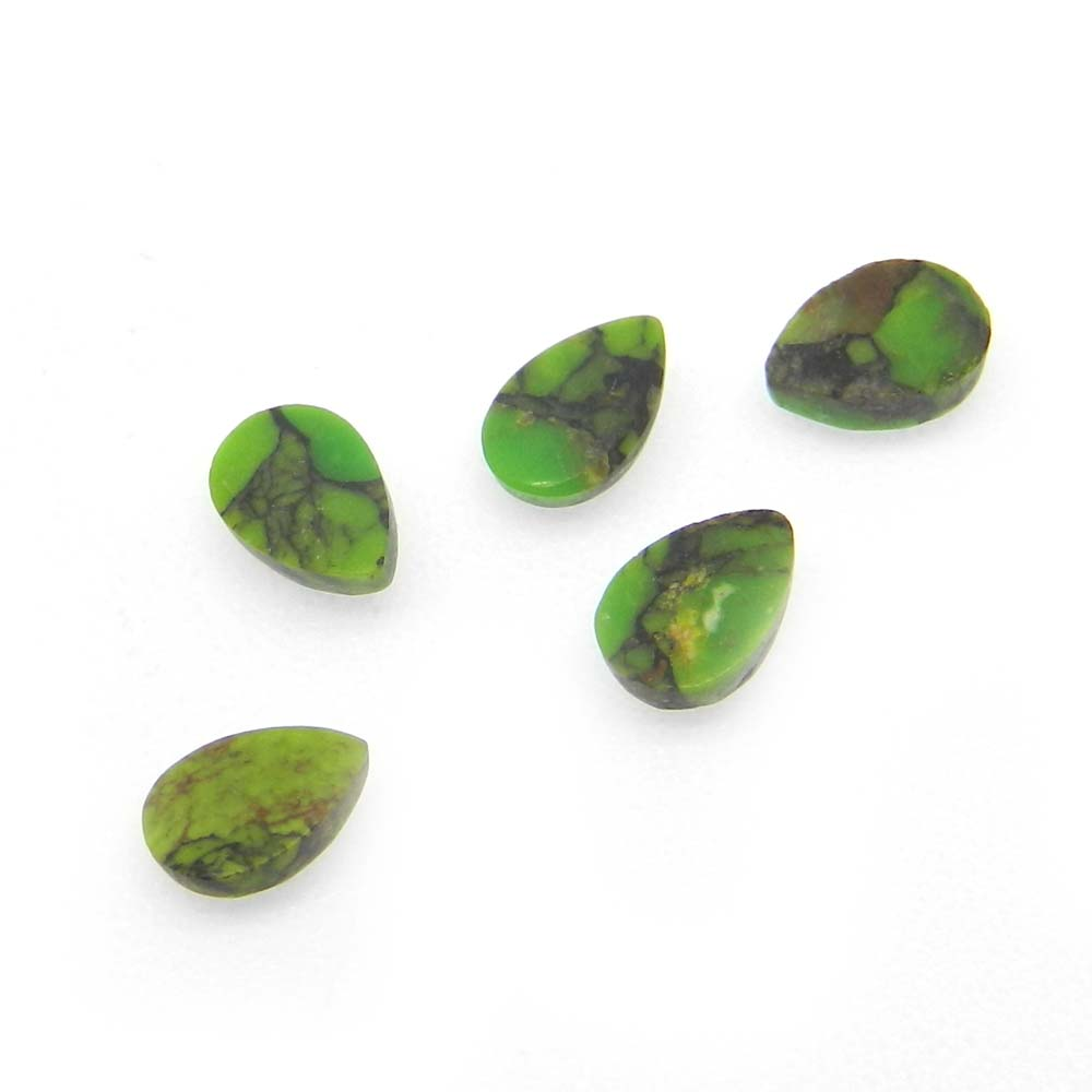 Green Mojave Turquoise 6x4mm Pear Cut 0.41 Cts