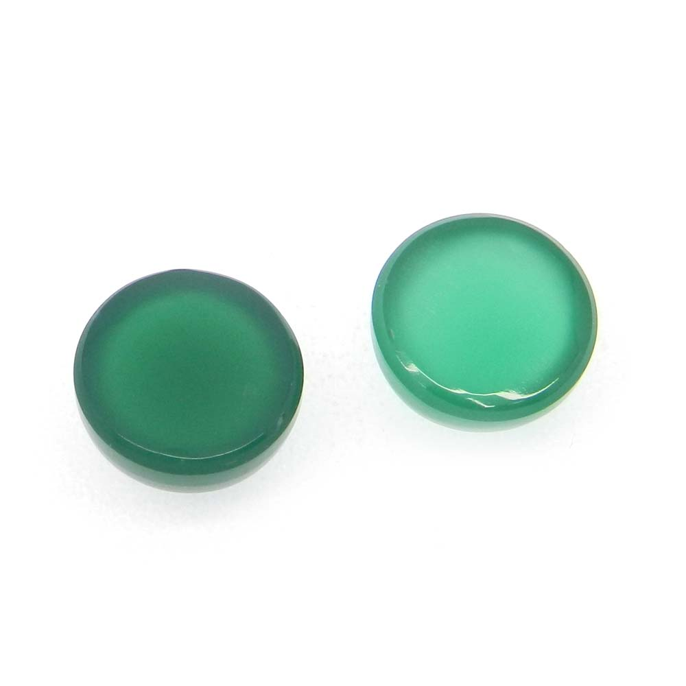Green Onyx 10mm Round Cabochon 4.15 Cts