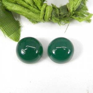Green Onyx 10x10mm Round Cabochon 4.15 Cts