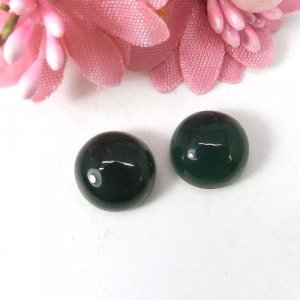 Green Onyx 10x10mm Round Cabochon 4.20 Cts