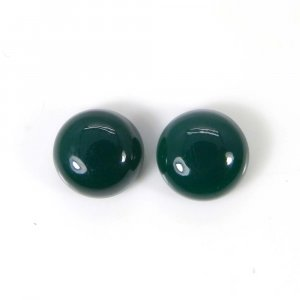 Green Onyx 10x10mm Round Cabochon 8.4 Cts