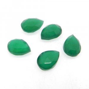 Green Onyx 10x7mm Pear Briolette Cut 2.1 Cts