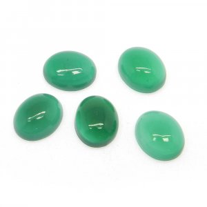 Green Onyx 10x8mm Oval Cabochon 2.38 Cts