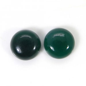 Green Onyx 11x11mm Round Cabochon 9.30 Cts