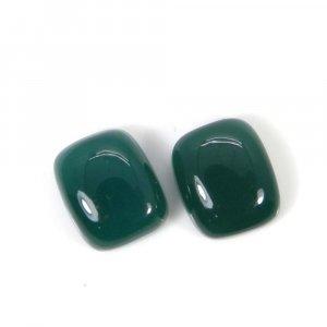 Green Onyx 12x10mm Octagon Cabochon 10.3 Cts