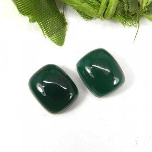 Green Onyx 12x10mm Octagon Cabochon 5.15 Cts