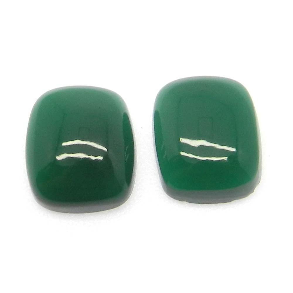 Green Onyx 12x10mm Rectangle Cushion Cab 5.15 Cts