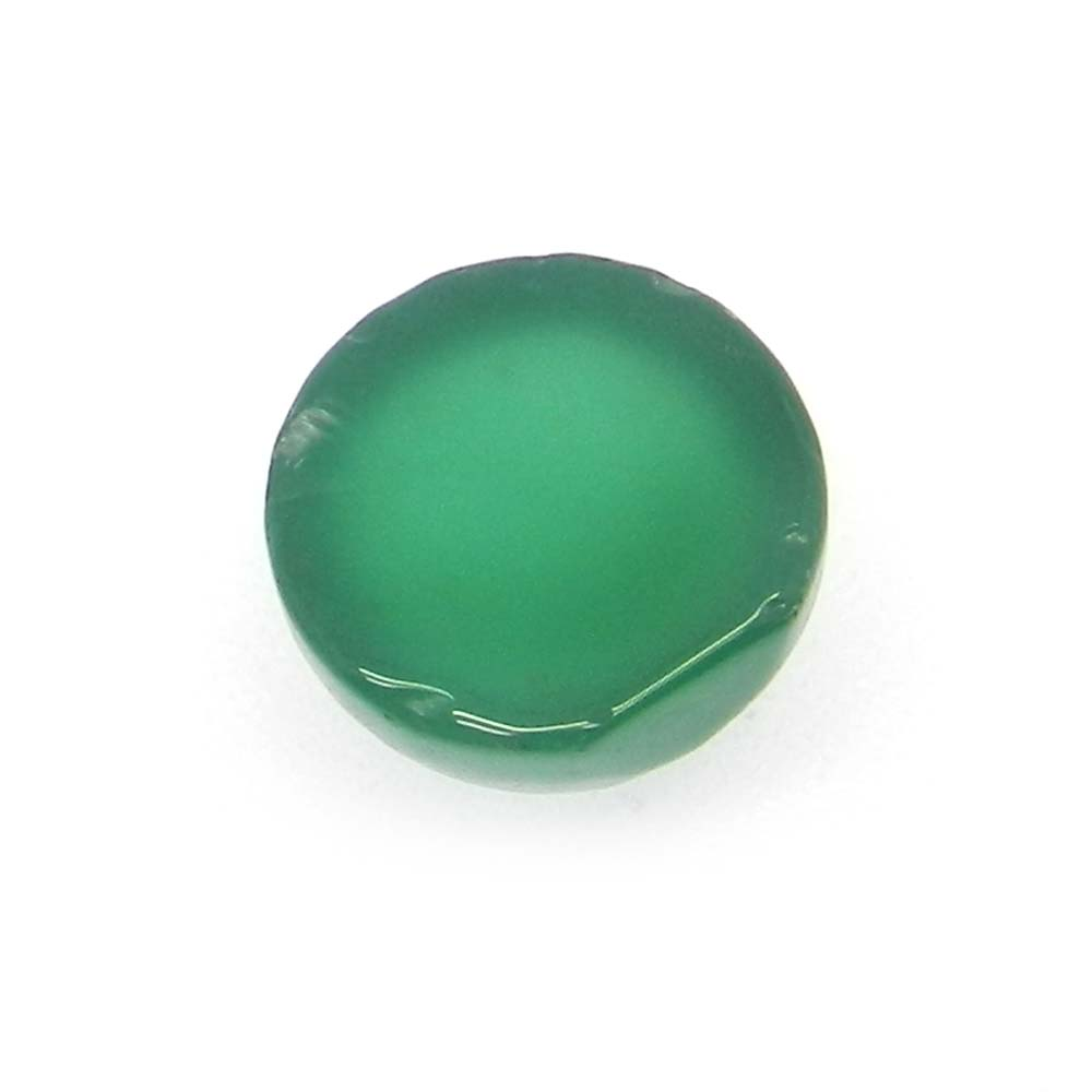 Green Onyx 13mm Round Cabochon 8.2 Cts