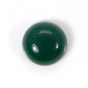 Green Onyx 13x13mm Round Cabochon 8.2 Cts