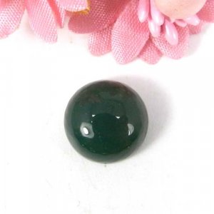 Green Onyx 13x13mm Round Cabochon 8.20 Cts