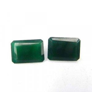 Green Onyx 14x10mm Octagon Baguette Cut 6.15 Cts