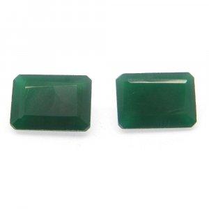 Green Onyx 14x10mm Octagon Cut 6.15 Cts
