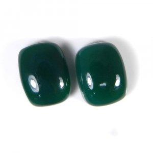 Green Onyx 16x12mm Octagon Cabochon 19.1 Cts