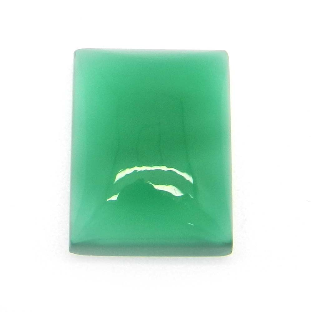 Green Onyx 18x13mm Octagon CAbochon 14.9 Cts