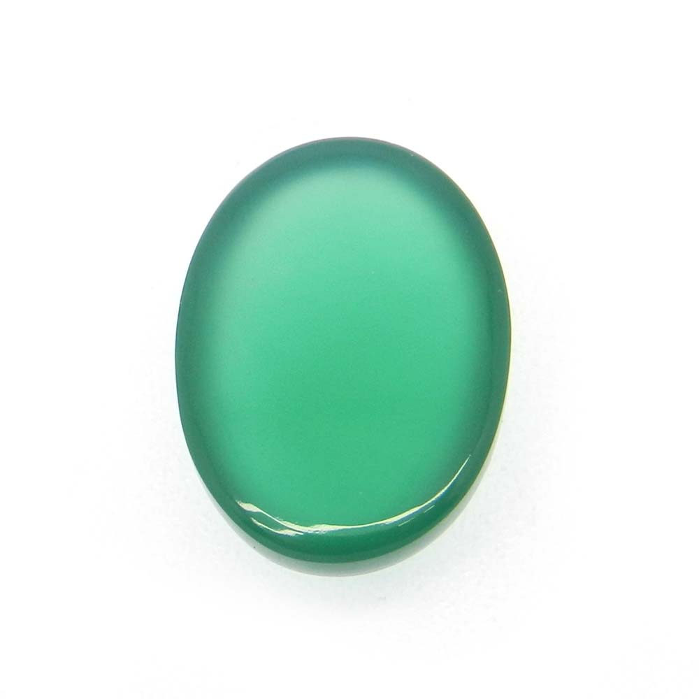 Green Onyx 18x13mm Oval Cabochon 12.25 Cts