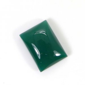 Green Onyx 18x13mm Rectangle Cabochon 14.9 Cts