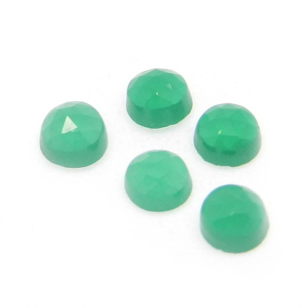 Green Onyx 4mm Round Cut 0.35 Cts
