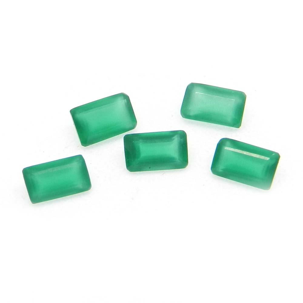 Green Onyx 5x3mm Octagon Cut 0.29 Cts