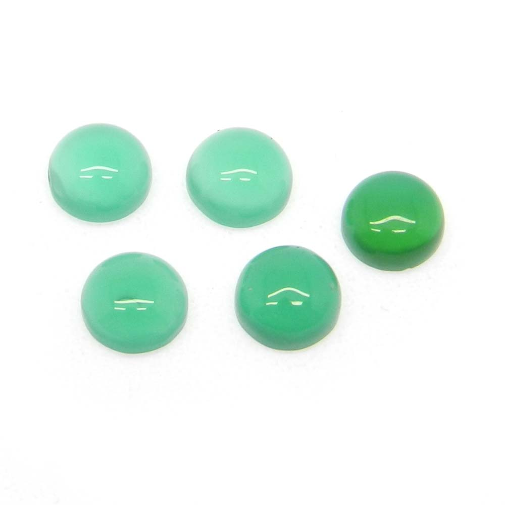Green Onyx 6mm Round Cabochon 0.83 Cts