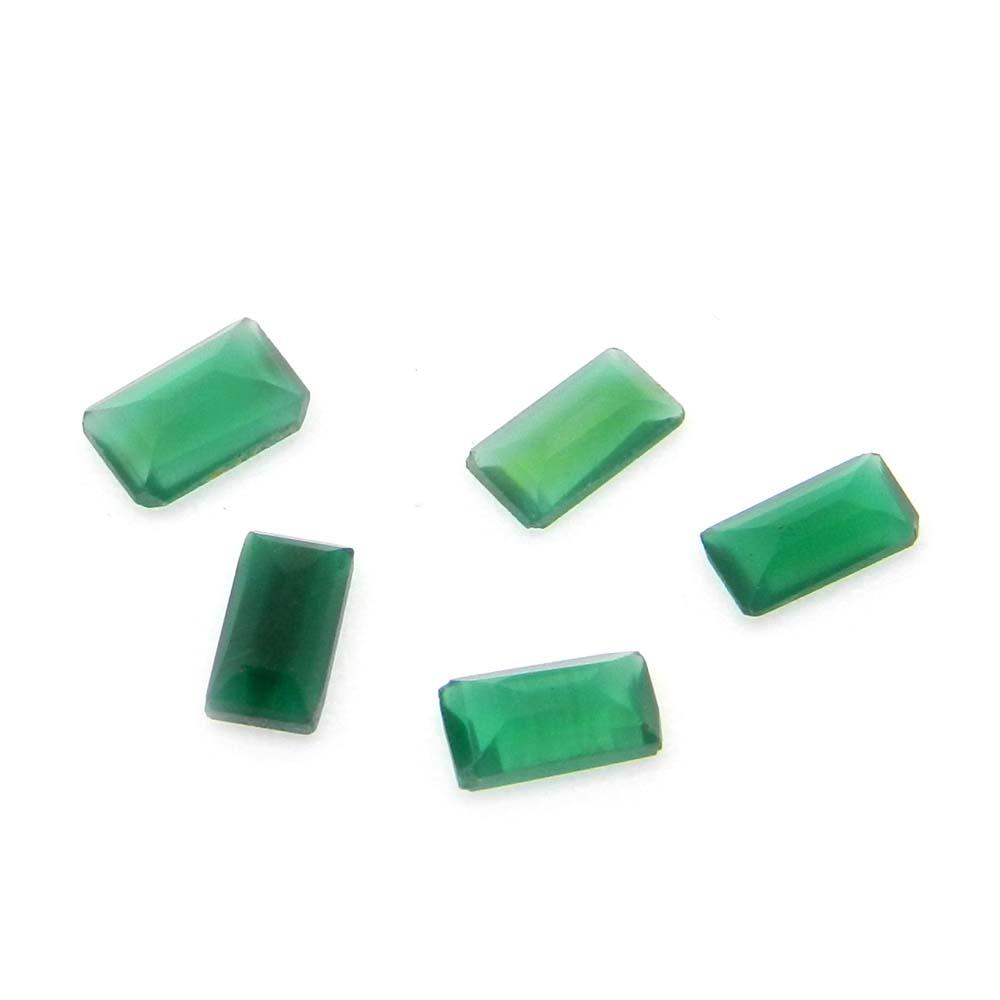 Green Onyx 6x4mm Octagon Cut 0.41 Cts