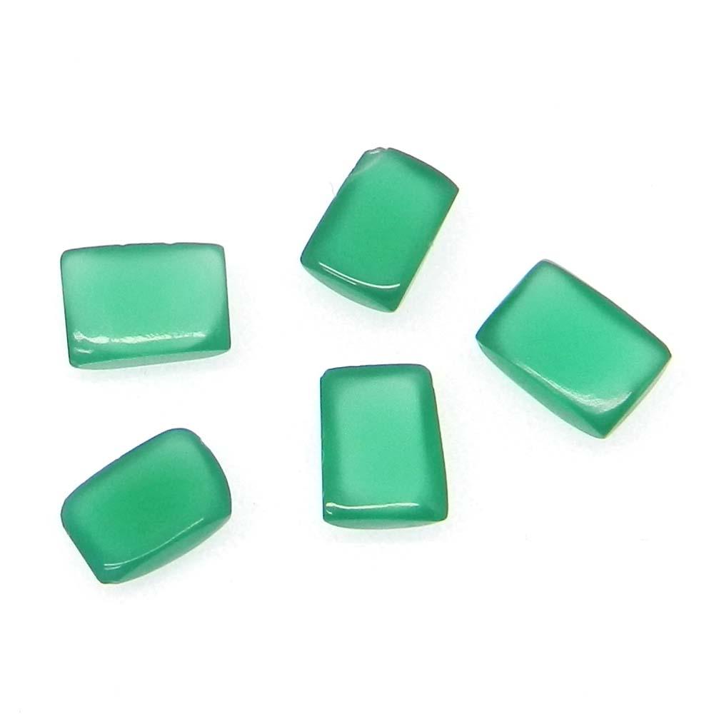 Green Onyx 7X5mm Octagon Cabochon 1.0 Cts