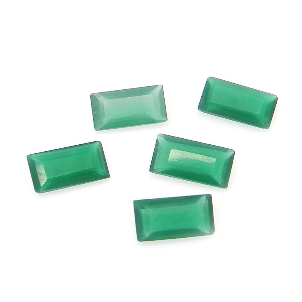 Green Onyx 8x4mm Octagon Cut 0.78 Cts