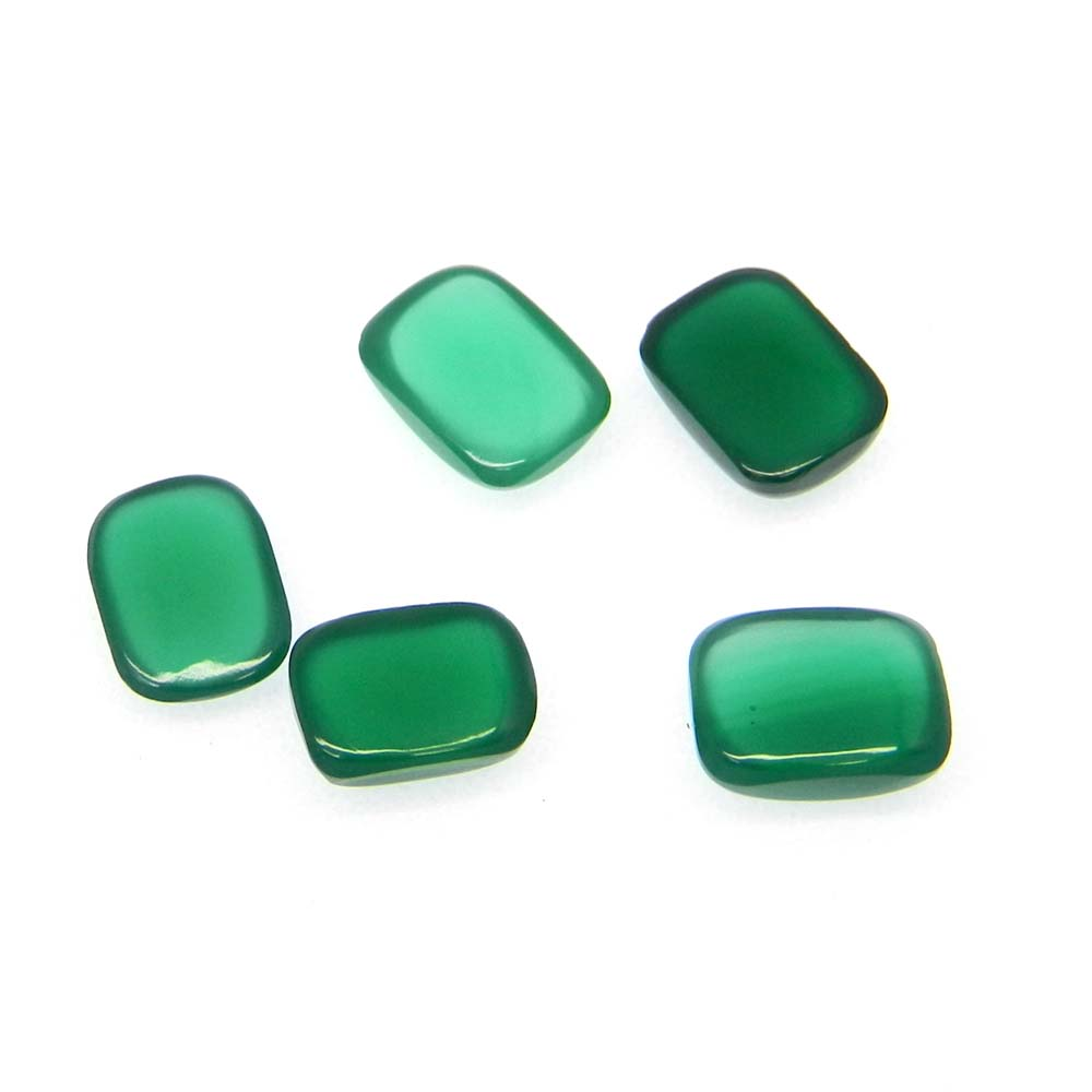 Green Onyx 8X6mm Rectangle Cabochon 1.4 Cts