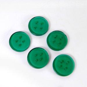 Green Tourmaline Glass 13x13mm Round Button Shape Cabochon 3.65 Cts