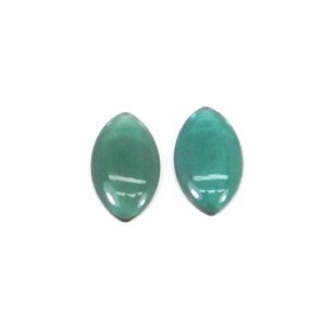 Green Tourmaline Hydro 20x12mm Marquise Cabochon 6.95 Cts