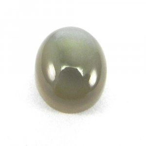 Grey Moonstone 12x10mm Oval Cabochon 5.4 Cts