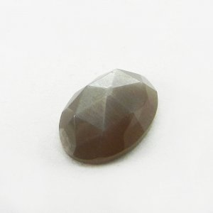 Grey Moonstone 14x10mm Oval Rose Cut 5.5 Cts