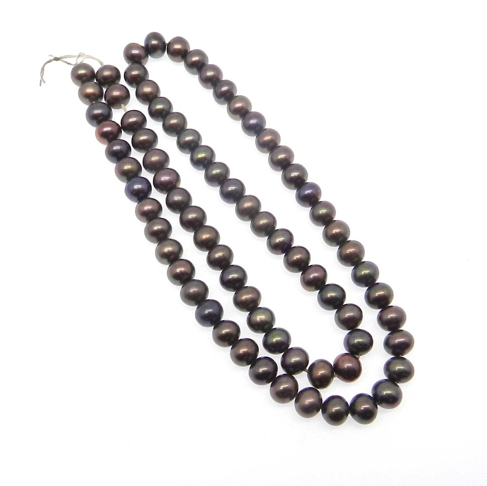 Grey Pearl 6mm Round Smooth Plain 15 inch Strand Beads