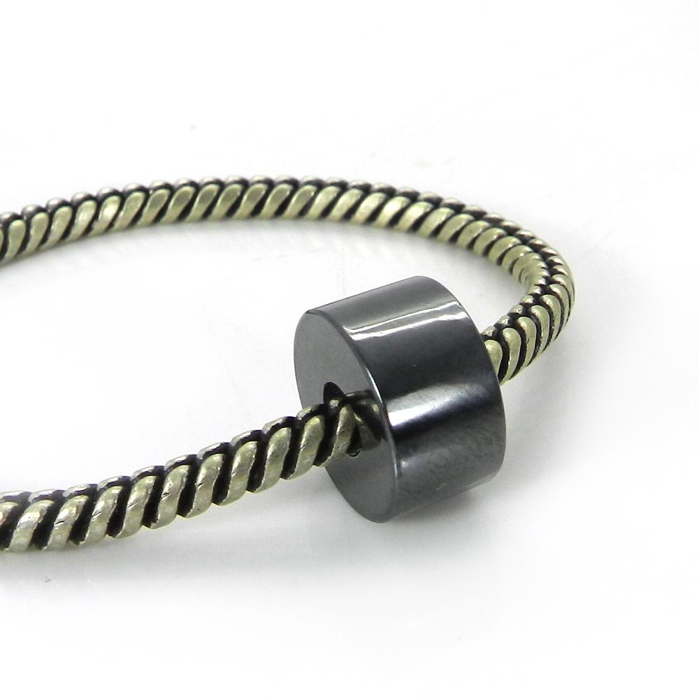 Hematite 14x8x4.5mm Round Flat Beads