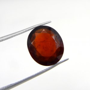 Hessonite Garnet 13x11 mm Oval Faceted 7.0 Cts